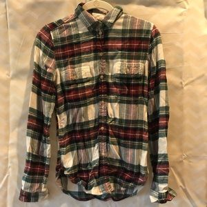 Red white and green flannel